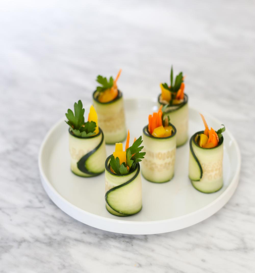 Eat the Rainbow: Cucumber Rolls