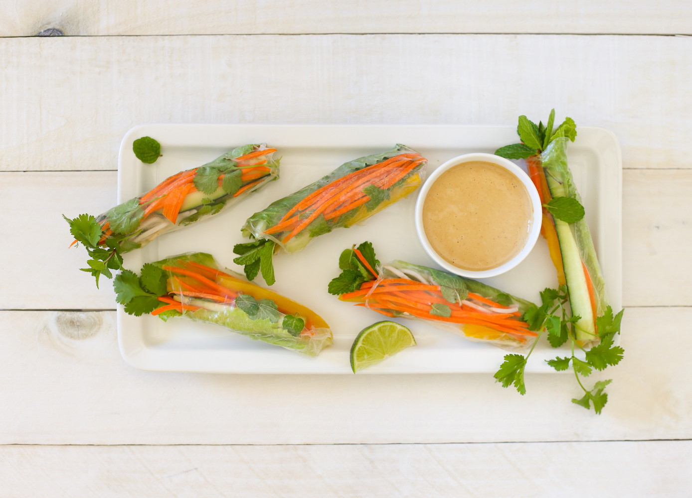 Eat the Rainbow: Veggie Spring Rolls