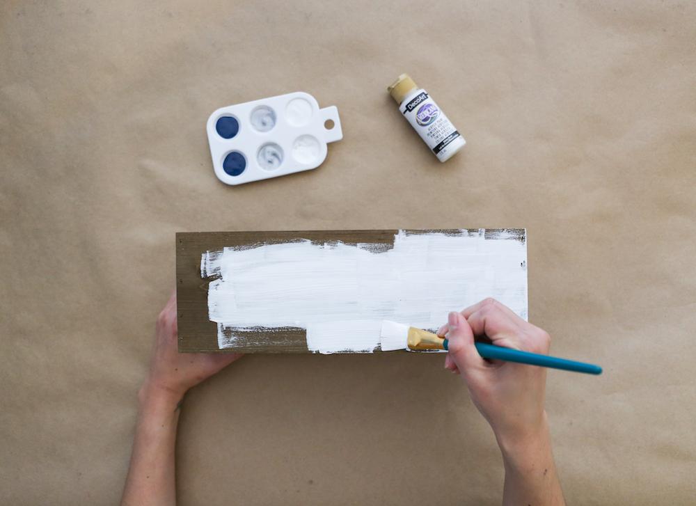 Painting box white