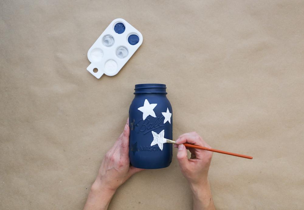Painting stars white