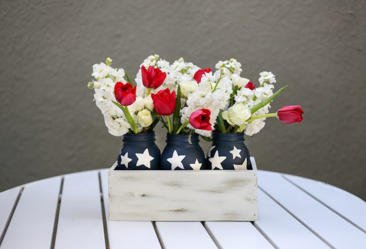 Red White And Blue A Diy Centerpiece For You The Bay Club Blog