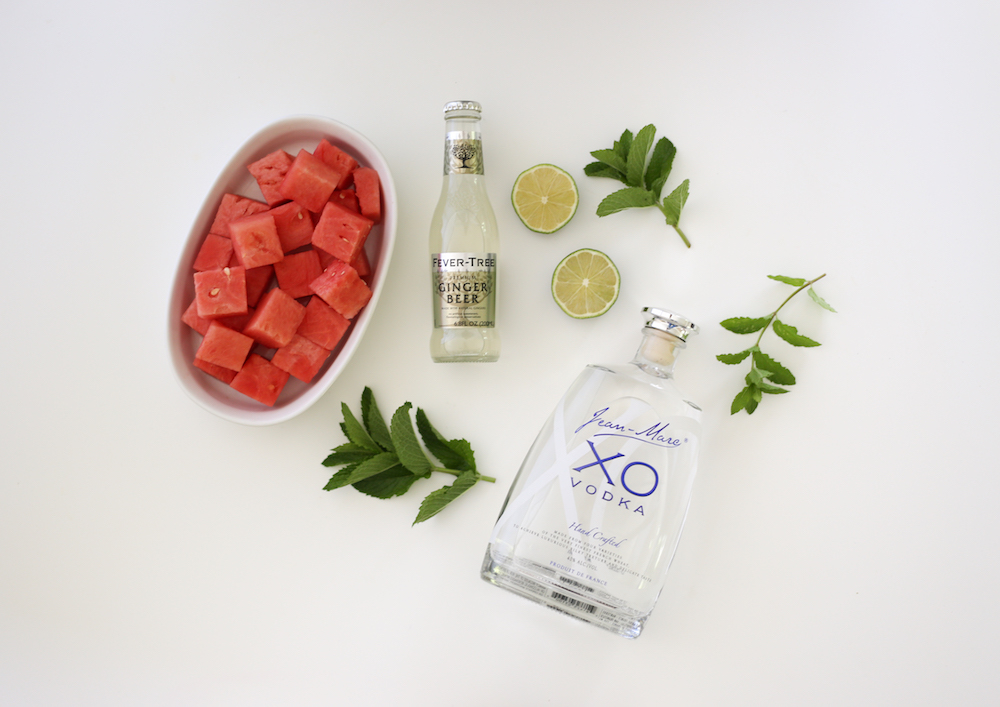 ingredients for watermelon mule