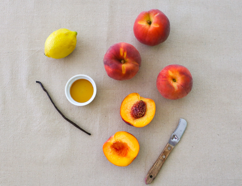 Ingredients for peach butter