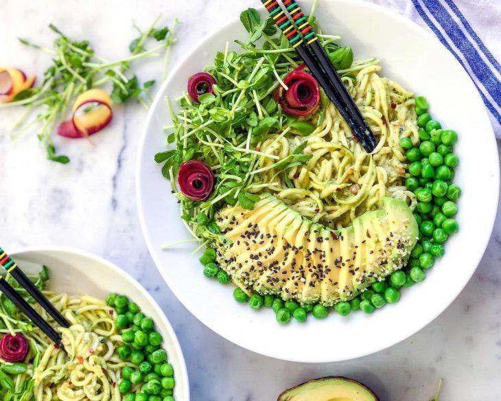 Squash Goals: Pesto Zoodles from Naturally Zuzu
