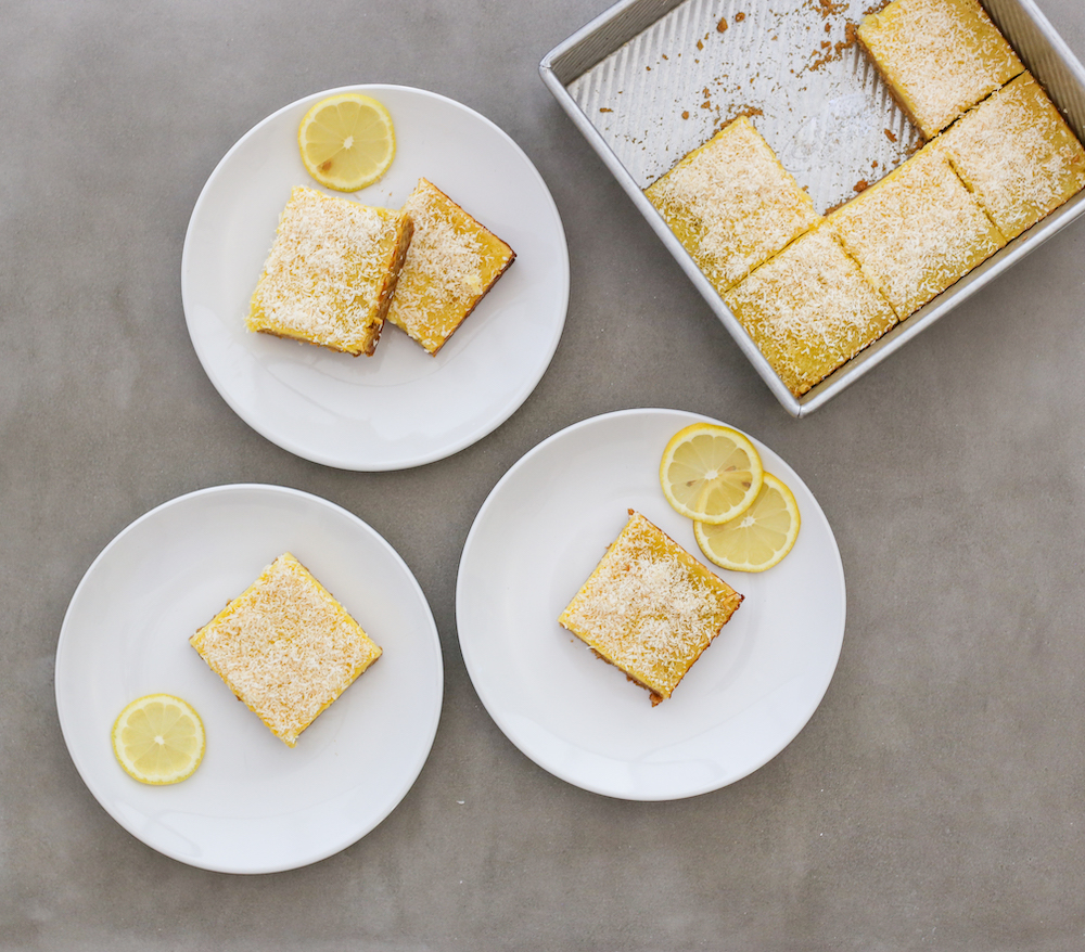 No Sugar Added Desserts: Lemon Coconut Bars