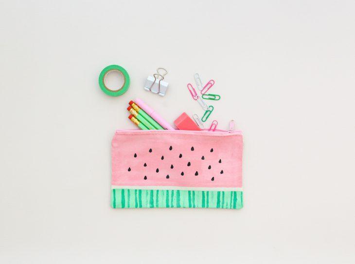 Back to School: Watermelon Pencil Pouch