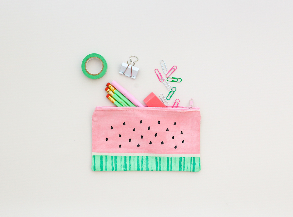 Teacher Thank You DIY: Watermelon Pencil Pouch
