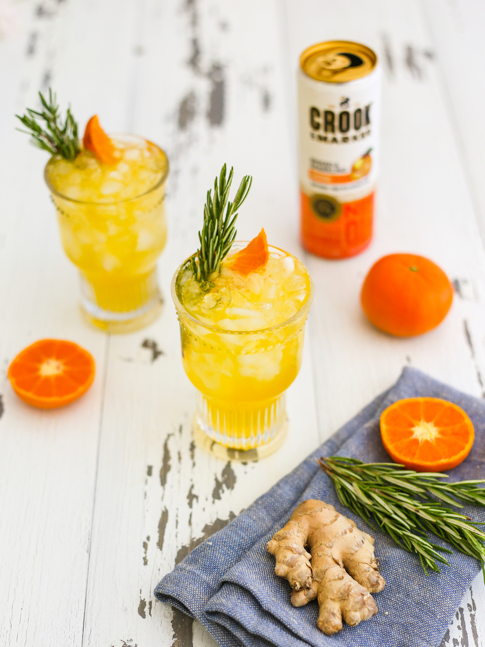 Spiked Seltzer Cocktail: Tangerine and Rosemary Ginger