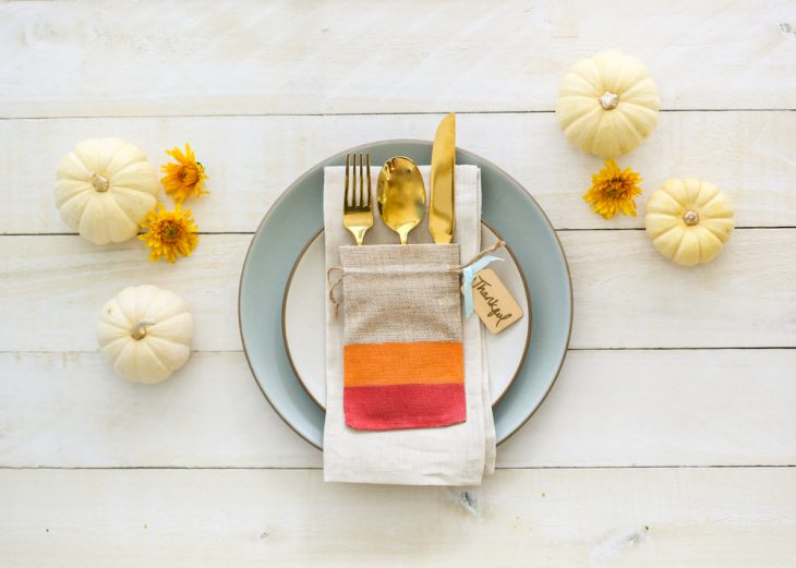 Thankful for DIYs: Burlap Utensil Holder