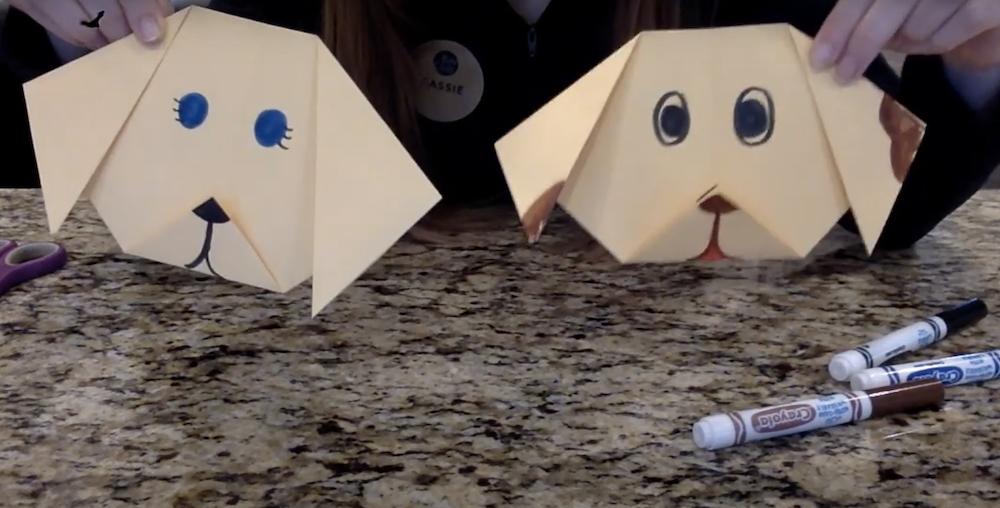 Kids Craft: Origami Dog